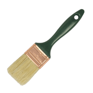 american style flat paint brush, with white bristles