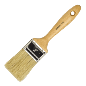 American style flat paint brush, white bristles