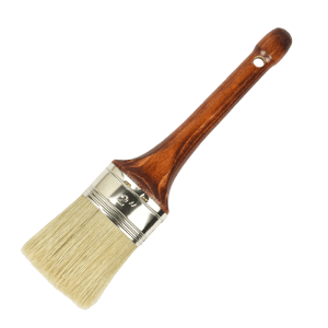 oval swiss type paint brush white bristles