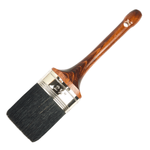 oval swiss type paint brush black bristles