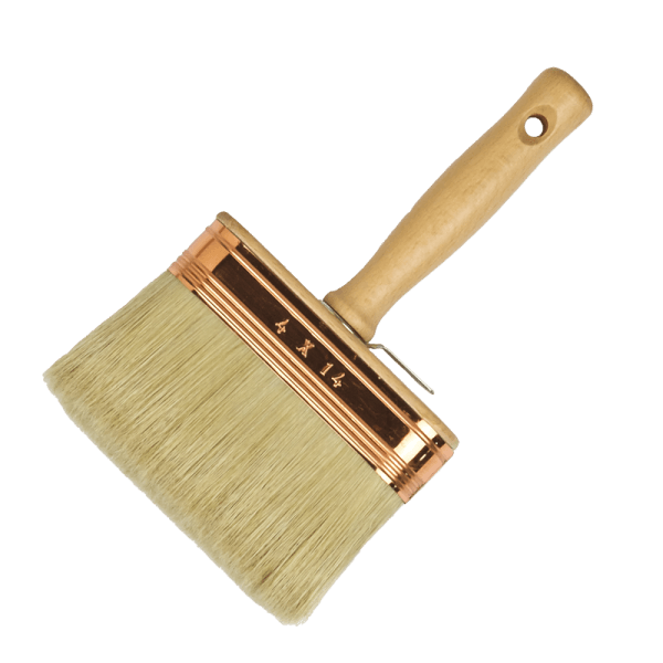 professionale oval block paint brush, white bristles