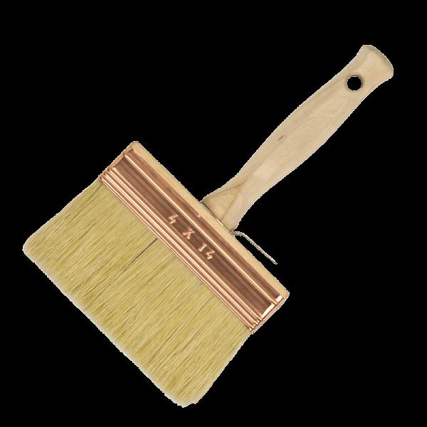 block paint-brush with white bristles