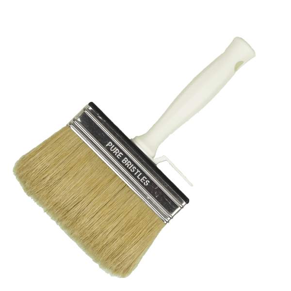 block paint-brush with white bristles
