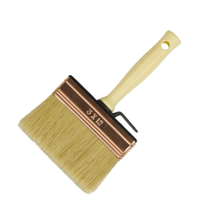 block paint brush with white bristles