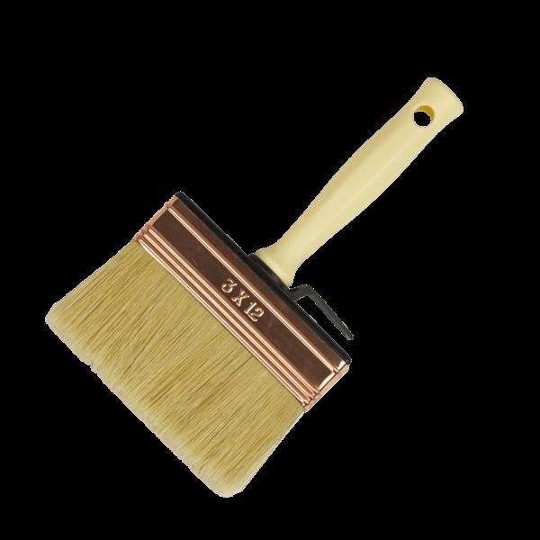 block paint brush with white bristles