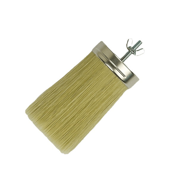 head only round brush with threaded insert